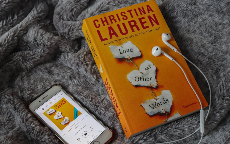 love and other words christina lauren livre audio audible sur un plaid