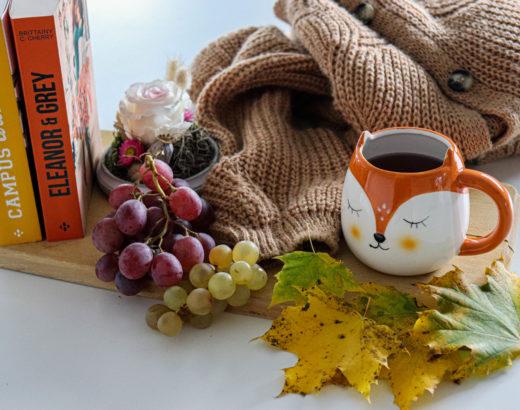 livres et éléments d'automne